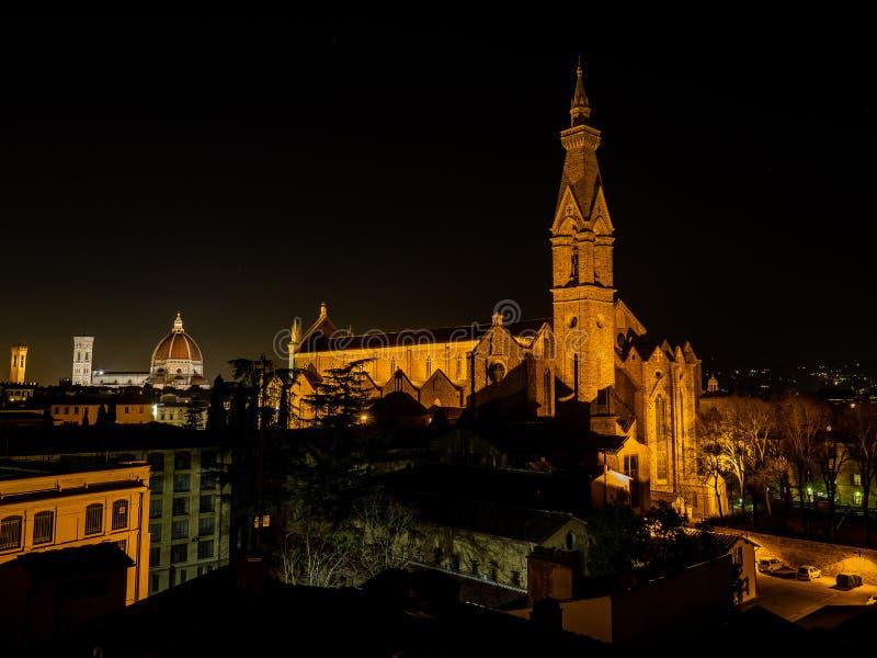 Basilica di Santa Croce a Firenze, Italia fotografie stock libere da diritti