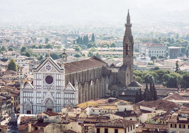 Basilica di Santa Croce, Firenze, Italia, renaissanc magnifico fotografie stock