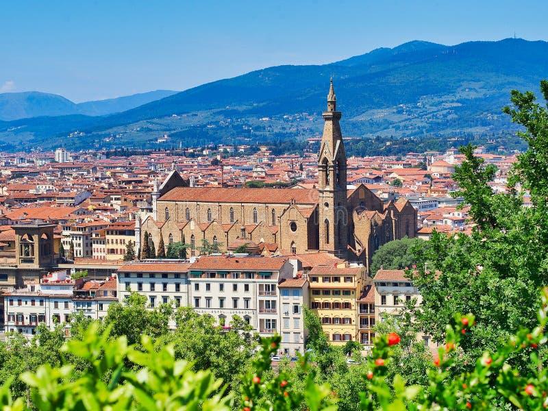 Basilica di Santa Croce, Firenze, Toscana, Italia immagini stock libere da diritti