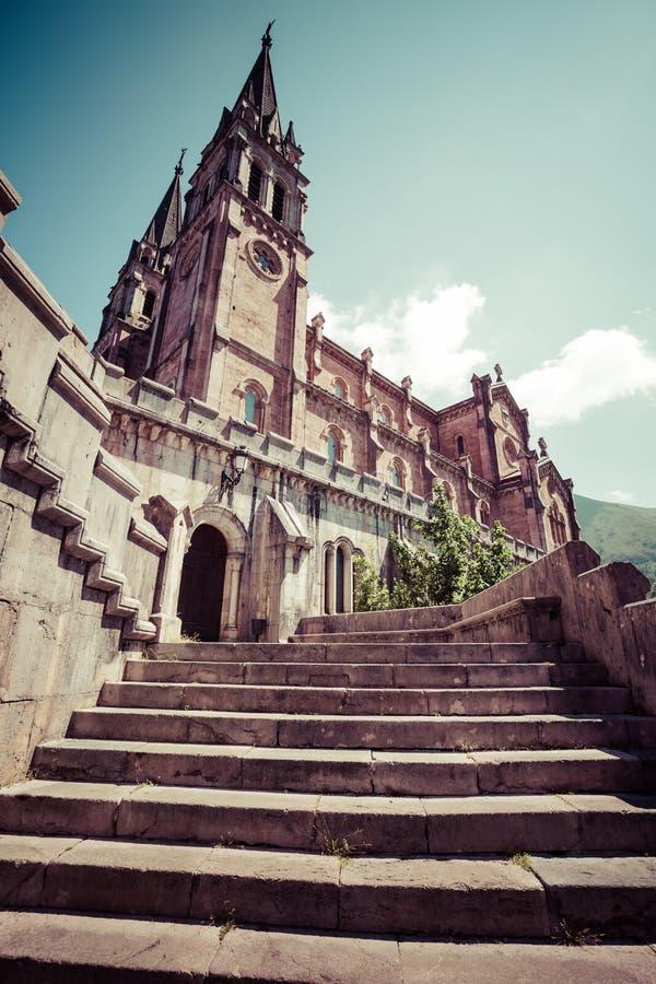 Basilica di Santa Maria, Covadonga, Asturie, Spagna fotografie stock libere da diritti