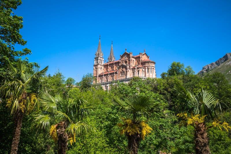 Basilica di Santa Maria, Covadonga, Asturie, Spagna fotografia stock