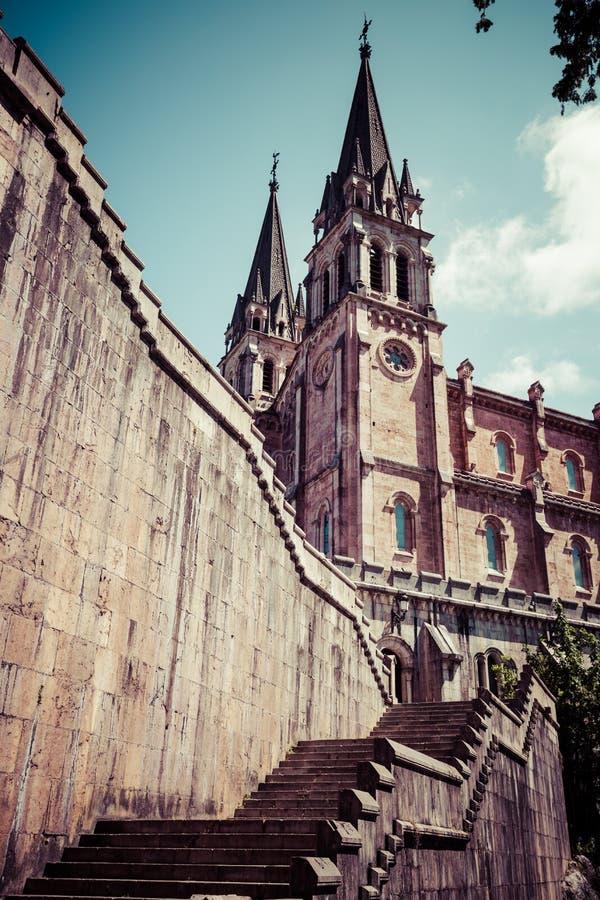 Basilica di Santa Maria, Covadonga, Asturie, Spagna fotografia stock libera da diritti