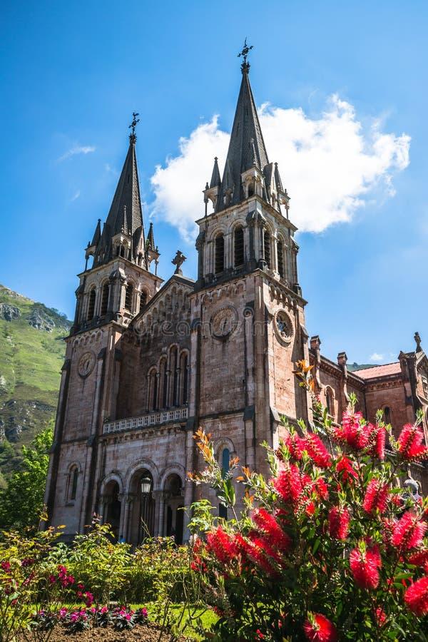 Basilica di Santa Maria, Covadonga, Asturie, Spagna fotografie stock