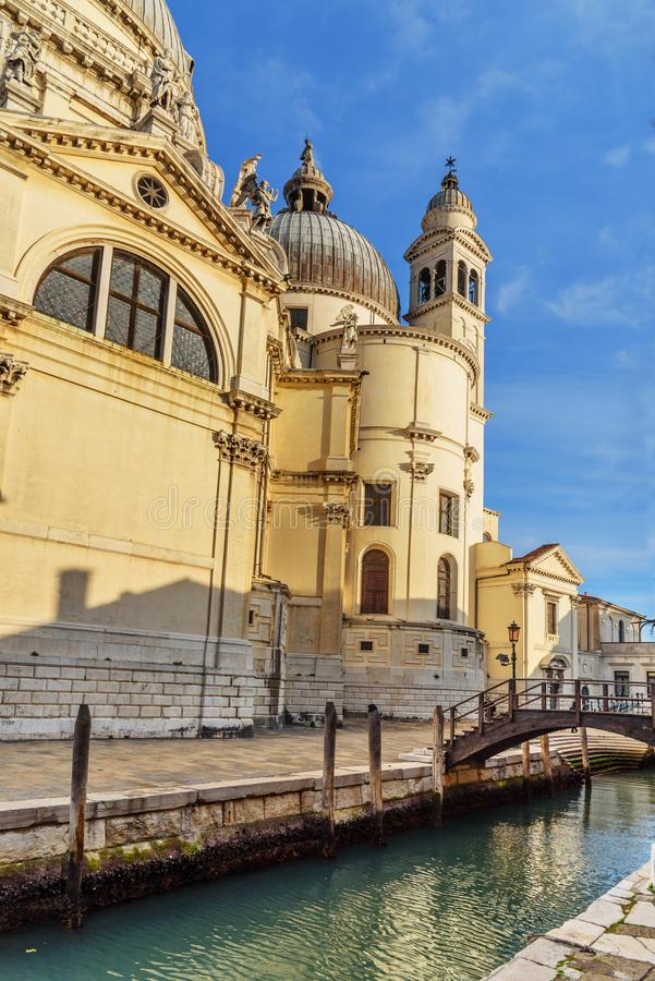 Basilica di Santa Maria della Salute or Basilica of Saint Mary of Health. Venice. Italy royalty free stock photos