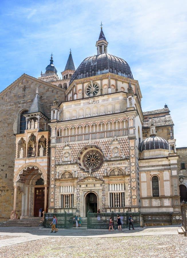 Basilica di Santa Maria Maggiore in Citta Alta, Bergamo, Italia fotografia stock