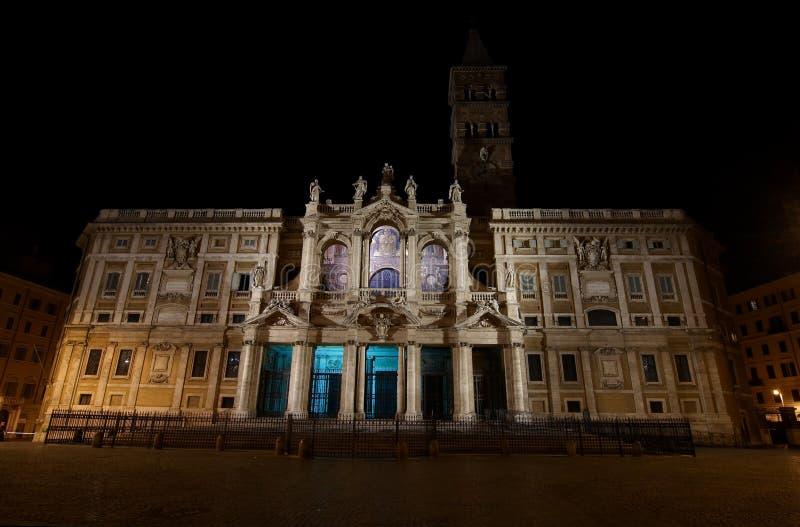 Basilica di Santa Maria Maggiore - one of the most stock image