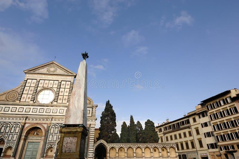 Santa Maria Novella Church in Florence. Basilica di Santa Maria Novella in Florence, Italy. Santa Maria Novella church. Santa Maria Novella square stock photo