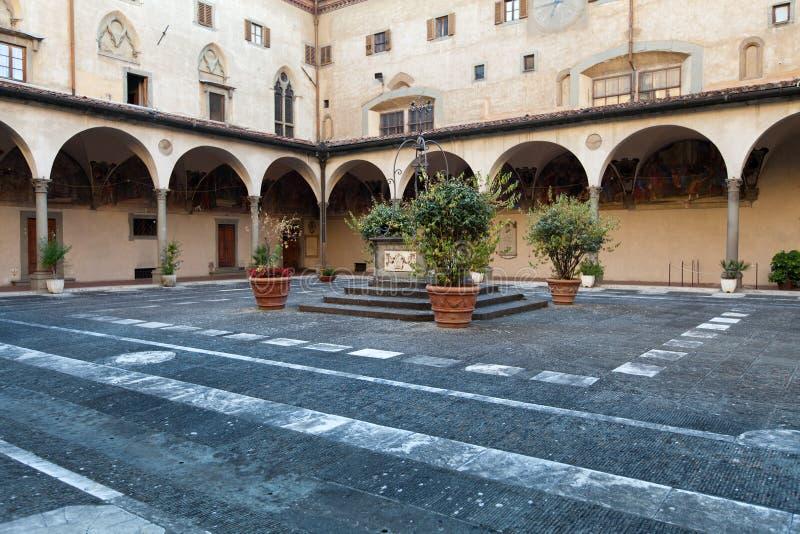 Basilica di Santissima Annunziata a Firenze fotografie stock