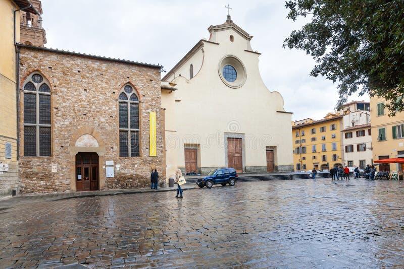 Basilica Di Santo Spirito στην πλατεία στη Φλωρεντία στοκ εικόνες