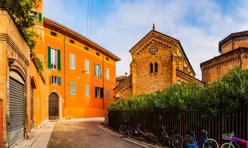 Basilica di Santo Stefano in città di Bologna, Italia fotografie stock libere da diritti
