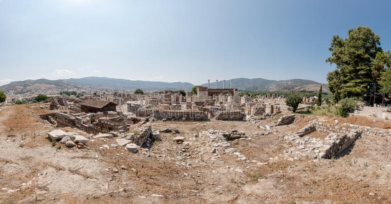 Basilica di StJohn alla collina di Ayasuluk in Ephesus Selcuk, Smirne, Turchia fotografia stock libera da diritti