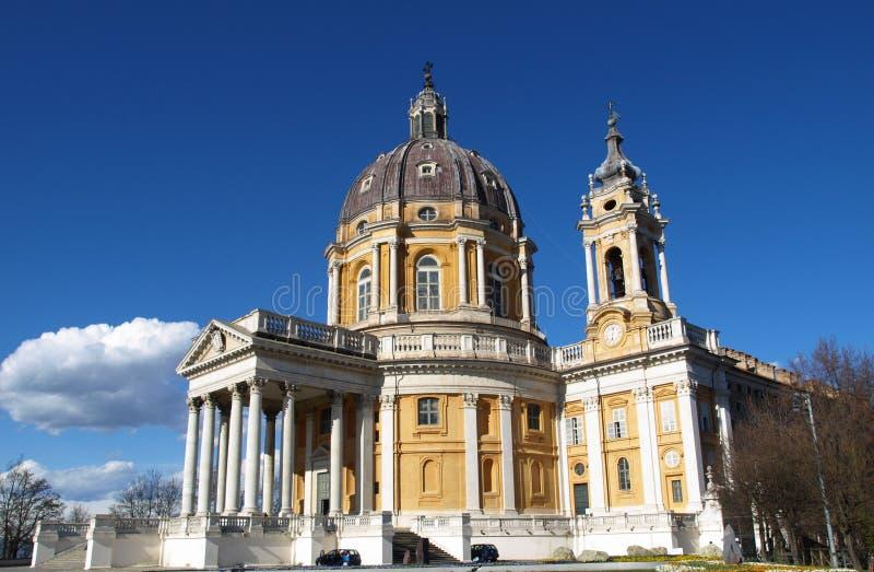 basilica di superga turin royaltyfri bild