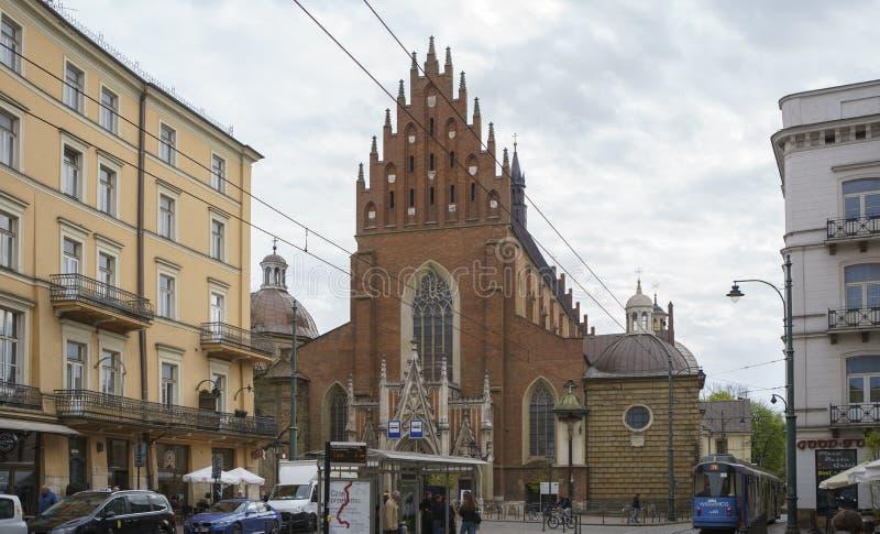 Basilica di trinità santa e del monastero domenicano a Cracovia immagine stock libera da diritti