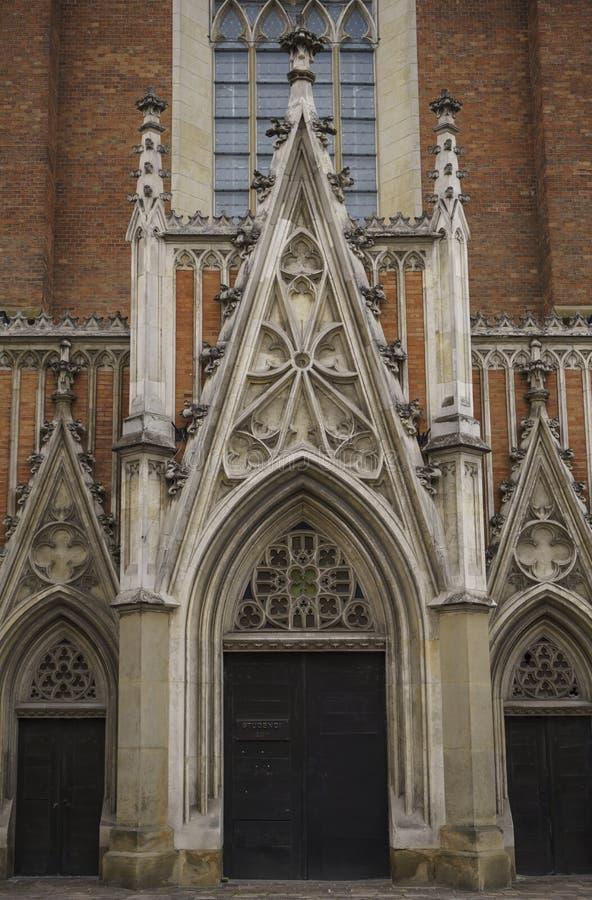 Basilica di trinit? santa e del monastero domenicano a Cracovia immagini stock