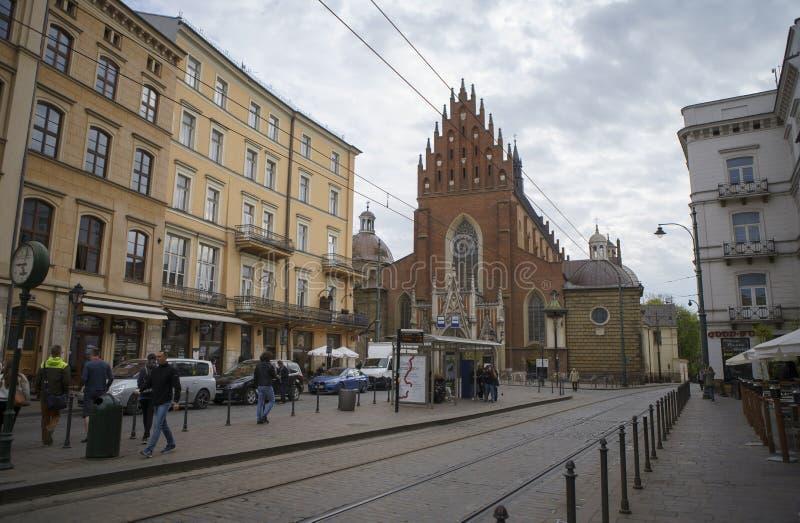 Basilica di trinit? santa e del monastero domenicano a Cracovia immagine stock