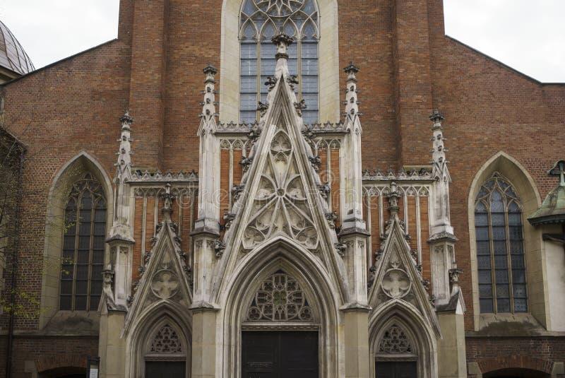 Basilica di trinit? santa e del monastero domenicano a Cracovia fotografia stock libera da diritti