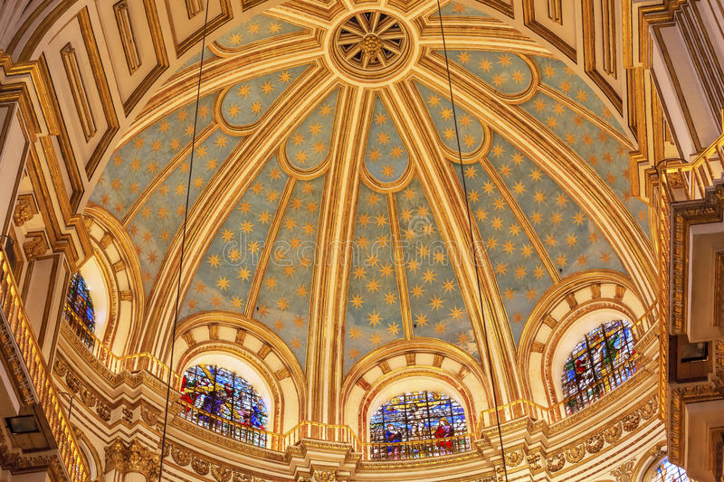 Basilica Dome Stained Glass Cathedral Andalusia Granada Spain royalty free stock photo