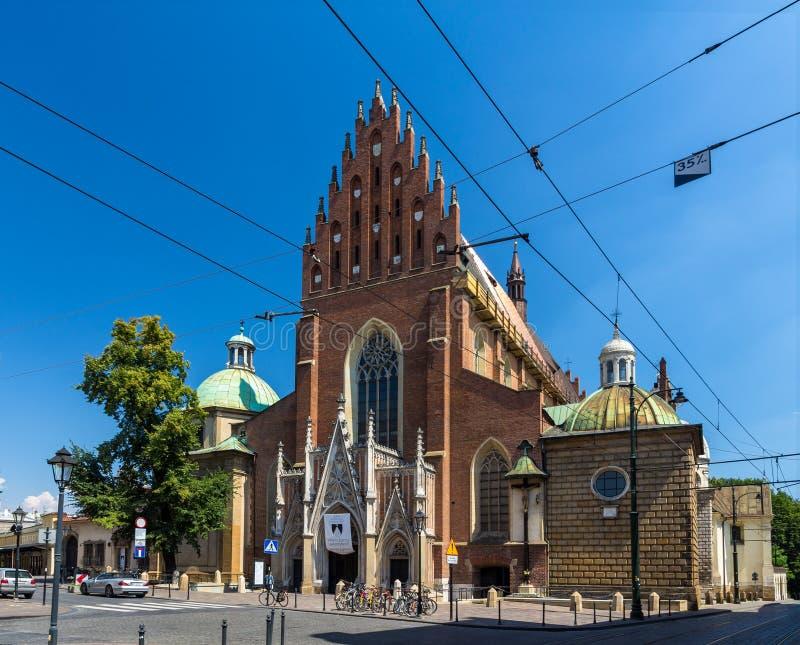 Basilica domenicana della trinità santa a Cracovia, Polonia fotografia stock libera da diritti