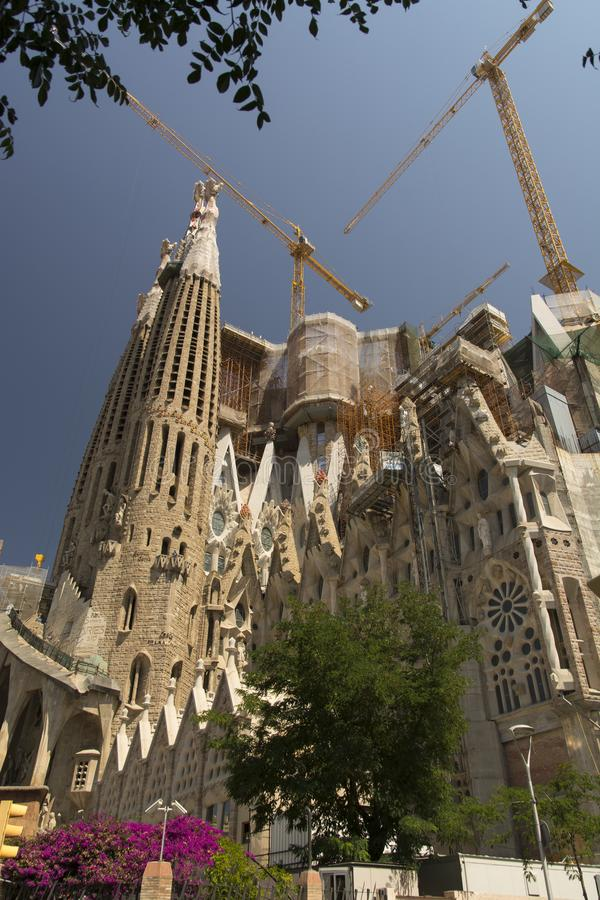 Basilica e chiesa espiatoria della famiglia santa fotografia stock libera da diritti
