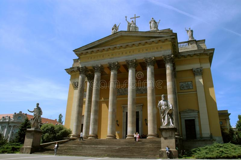 Basilica in Eger, Hungary stock photography