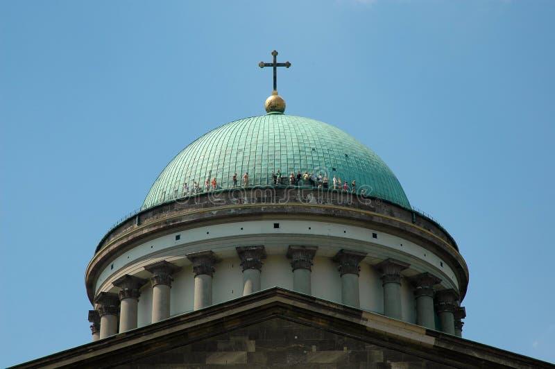 Basilica in Esztergom. The basilica of the Hungarian city Esztergom - detail stock photography