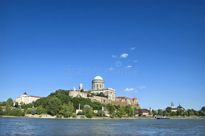 Basilica in Esztergom. View of the Basilica in Esztergom, Hungary stock photography