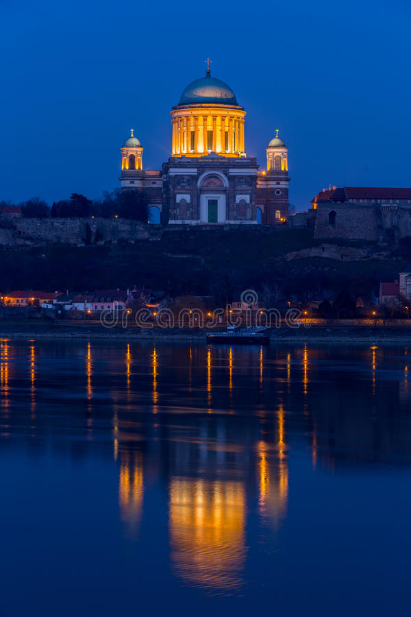 Basilica in Esztergom, Hungary. Esztergom - city in northern Hungary, on the right bank of the river Danube, which forms the border with Slovakia there. Its stock images