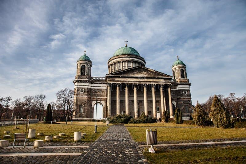 Basilica in Esztergom. Hungary. Toned royalty free stock photo