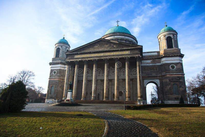 Basilica in Esztergom. Hungary stock photography