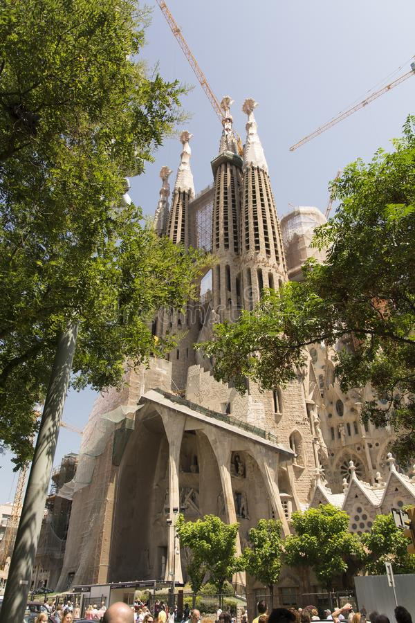 Basilica and Expiatory Church of the Holy Family Barcelona stock photography