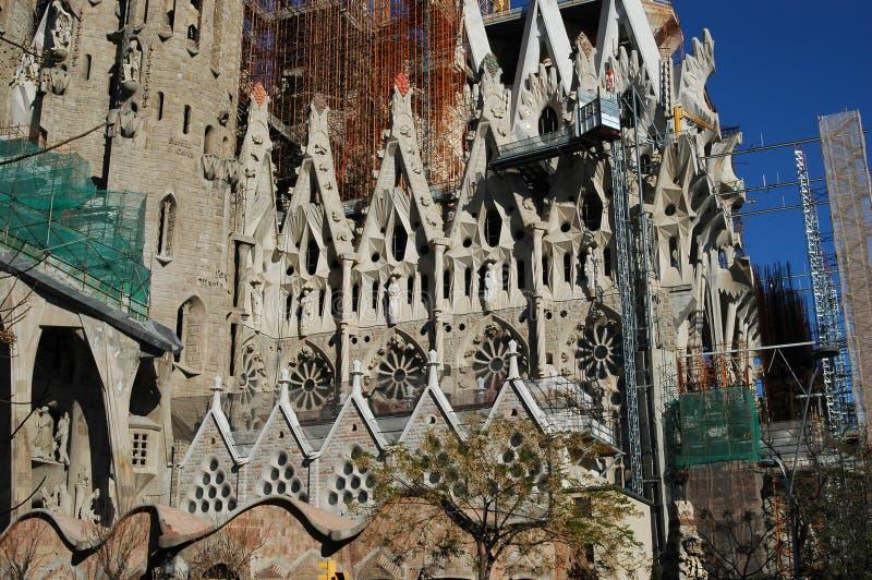 Basilica and Expiatory Church of the Holy Family in Barcelona stock photos