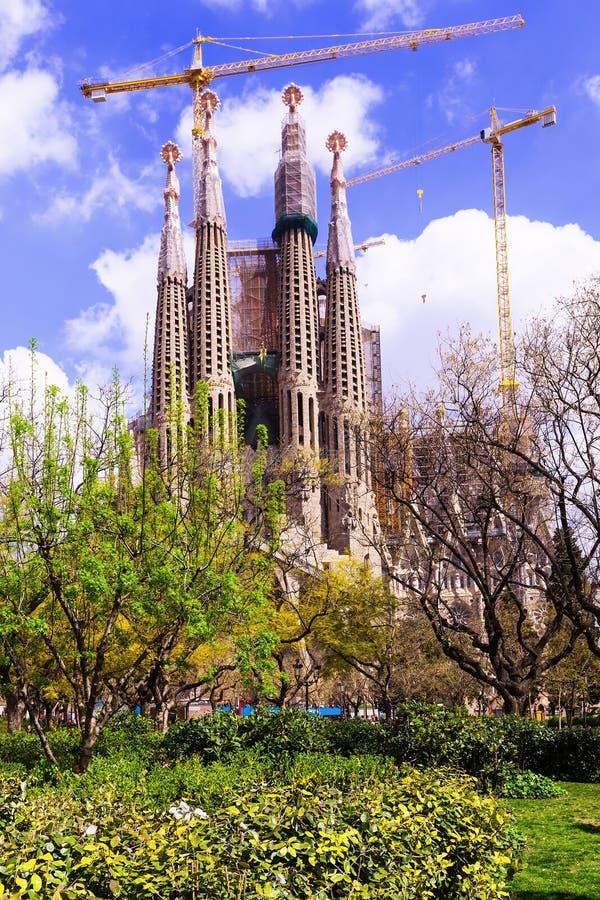 Basilica and Expiatory Church of the Holy Family (Sagrada Familia) stock photo