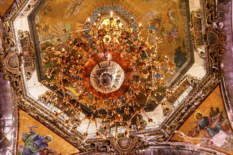 Basilica Guadalupe Mexico City Mexico dei mosaici della cupola vecchia immagine stock