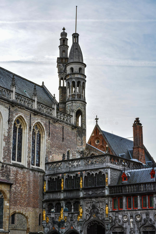 Basilica of the Holy Blood, Bruges, Belgium stock photo