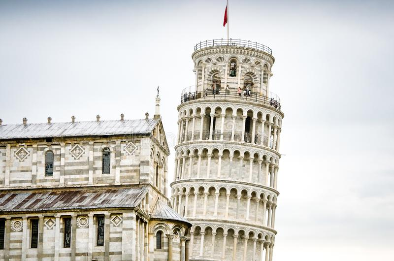 Basilica and leaning tower. Pisa, Italy stock image
