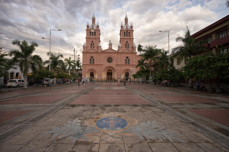 Basilica of The Lord of the Miracles in Buga, Colombia royalty free stock images