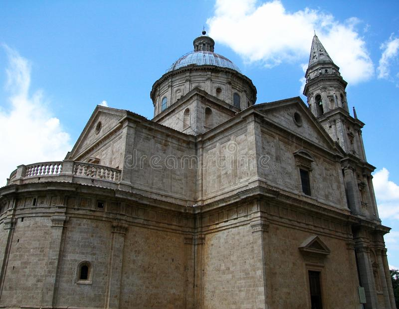Basilica of Madonna di San Biagio in Montepulciano, Tuscany, Italy. Basilica of Madonna di San Biagio in Montepulciano, Tuscany royalty free stock photos