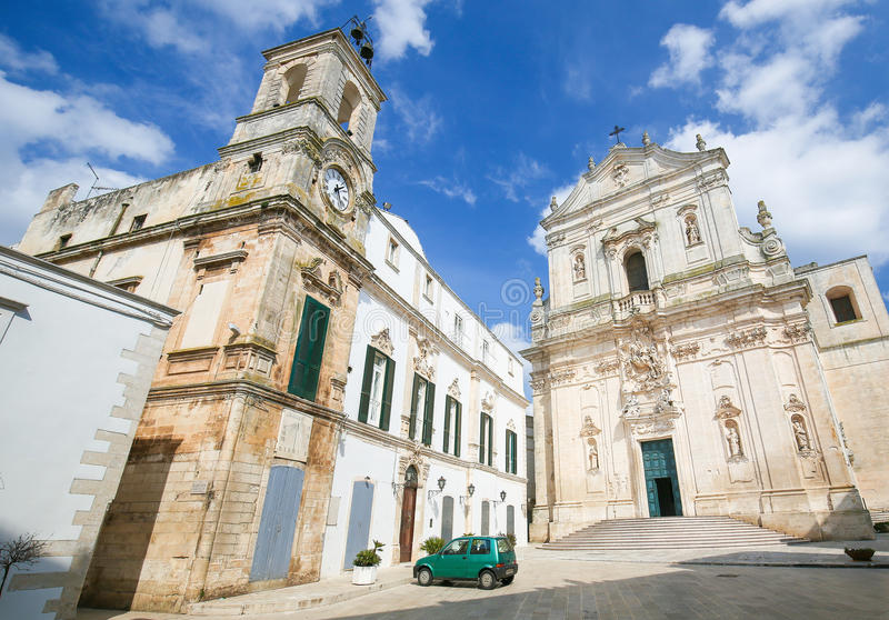 Basilica in Martina Franca, Italy royalty free stock photography