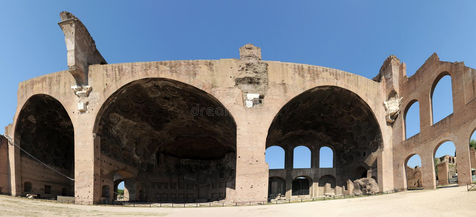 Download Basilica of Maxentius stock photo. Image of tourism, famous - 21411852