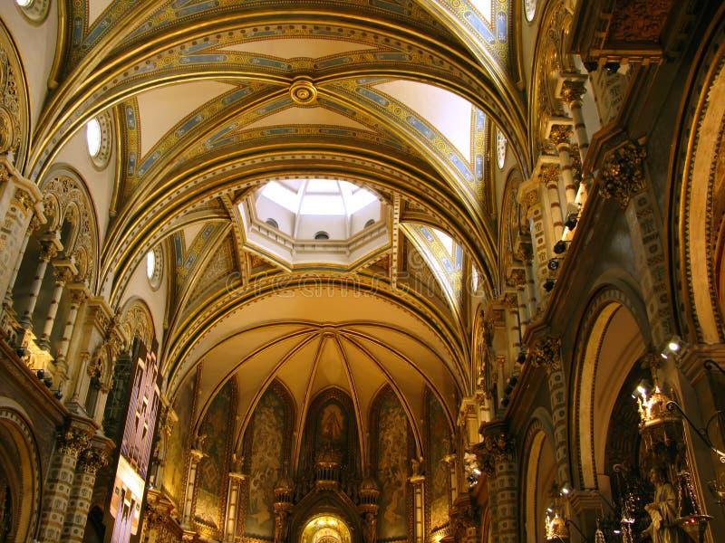 Basilica of Montserrat royalty free stock images