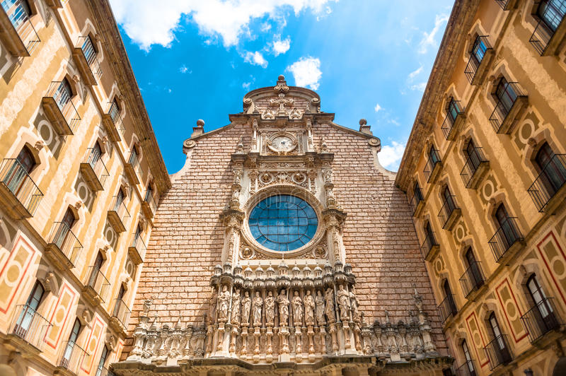 Basilica at Montserrat royalty free stock photo