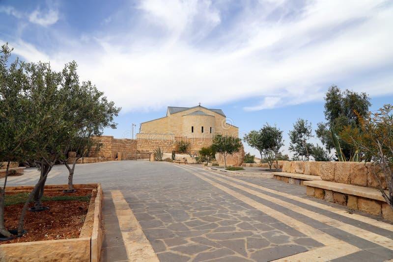 Basilica of Moses (Memorial of Moses), Mount Nebo, Jordan royalty free stock photography