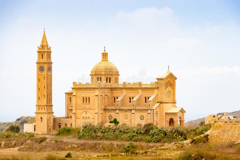 The Basilica of the National Shrine of the Blessed Virgin in Gozo, Malta stock photography