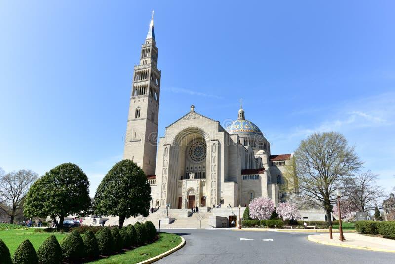 Basilica of the National Shrine Catholic Church royalty free stock photo