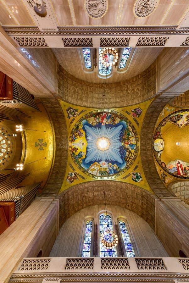 Basilica of the National Shrine Catholic Church royalty free stock photography