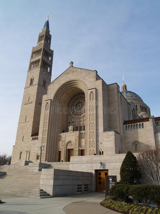 Basilica of the National Shrine of the Immaculate royalty free stock photo