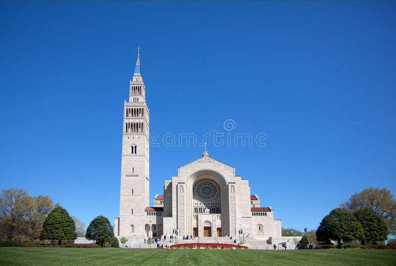Basilica of the National Shrine. Of the immaculate Conception in Washington DC royalty free stock photo