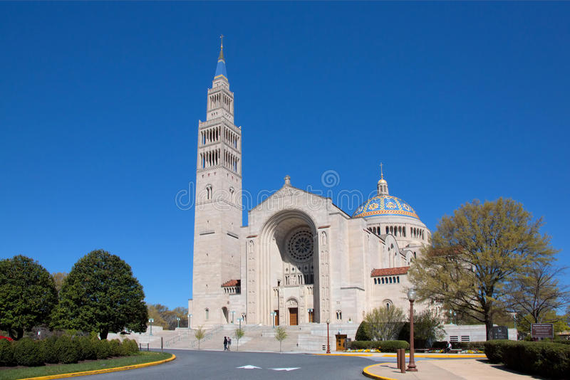 Basilica of the National Shrine. Of the immaculate Conception in Washington DC royalty free stock photography