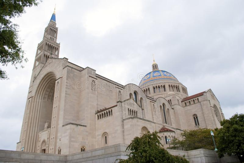 Basilica of the National Shrine of the Immaculate Conception. The Basilica of the National Shrine of the Immaculate Conception in Washington, DC. This is the stock photo