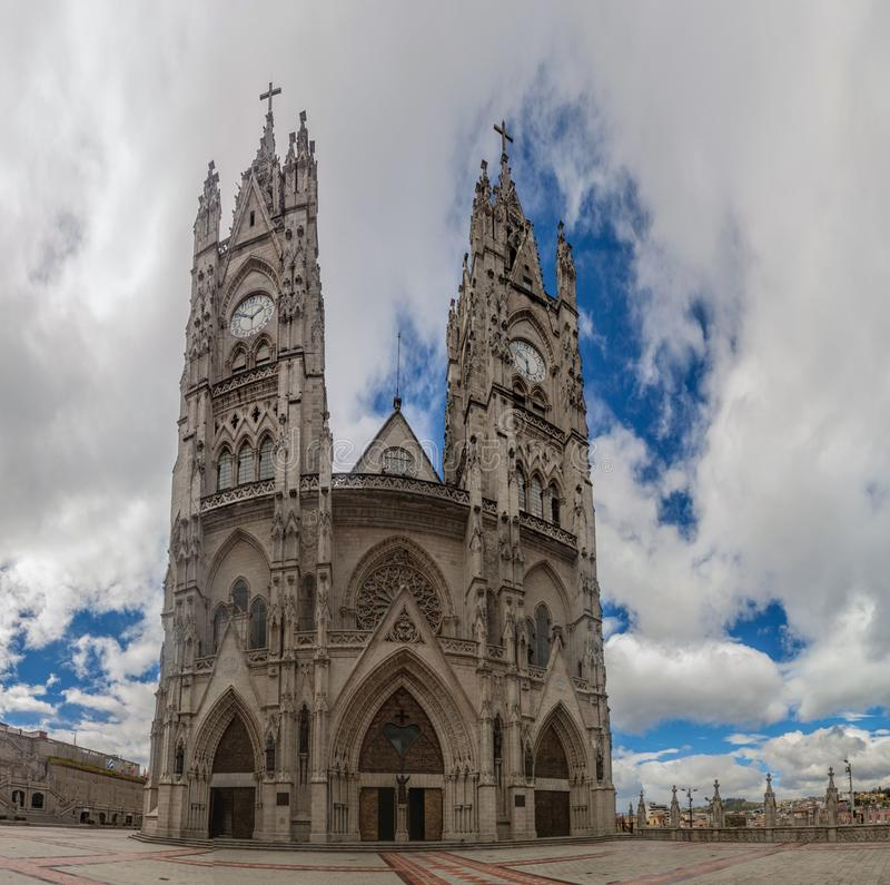 Basilica of the National Vow in Quito. Ecuador royalty free stock photo